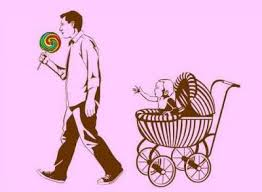 taking candy from a baby