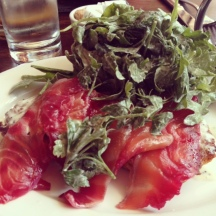 A Caitlint Favorite: House Cured Scottish Salmon at Clover Club