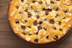Almond Cherry Cake (Photo Credit: bakeorbreak.com)