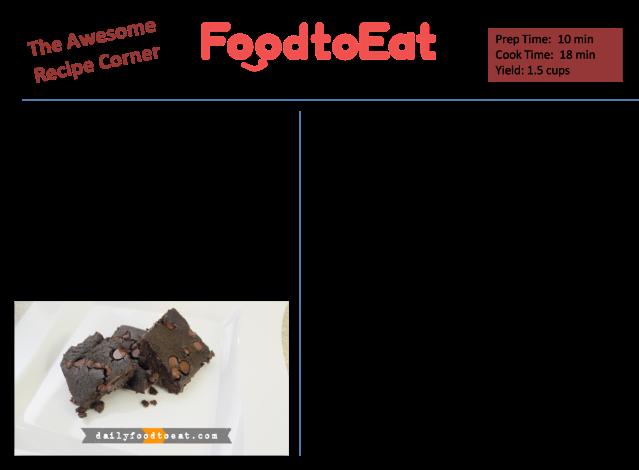 Black Bean Brownies Recipe Card