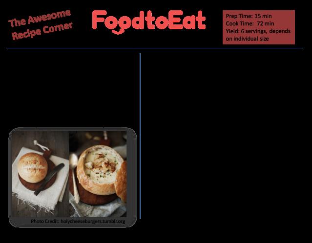 New England Clam Chowder in a Bread Bowl Recipe Card