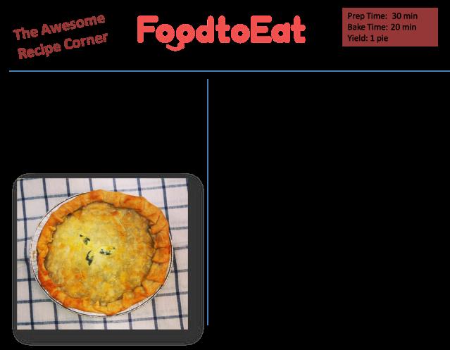 Spinach Ricotta Pie Recipe Card