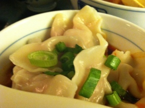Pork dumplings in Chili Oil from Cafe China | Photograph: Debra Liu
