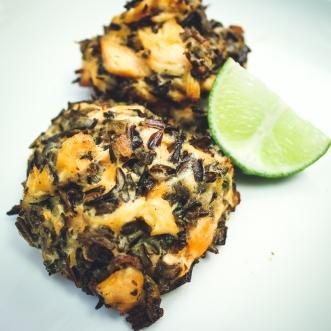 Salmon Wild Rice Cakes
