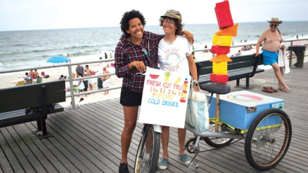 Robyn Hillman-Harrigan (left), Executive Director at Rockaway Rescue Alliance- Shore Soup Project
