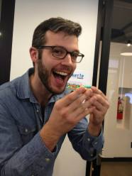 Startup Institute NY student enjoying a cupcake!