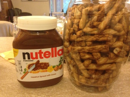 Pretzel Sticks and Nutella