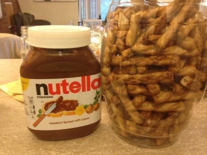 Pretzel Sticks and Nutella