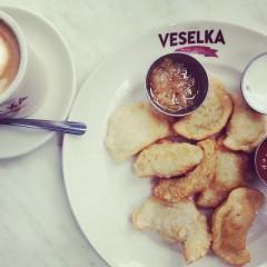 Pierogies at Veselka (photo credit: Veselka's instagram)