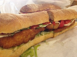 """Big Pauly"" Breaded chicken cutlet parmigano, fresh mozzarella, homemade marinara, shaved parmigano reggiano, fresh basil"