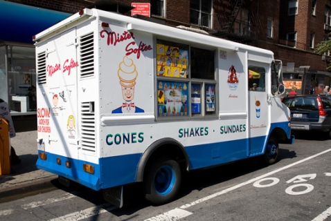 Mister Softee parked on an NYC Street | Photo credit: Above the Law