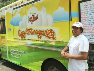 The man behind the food truck (or in this case, in front of): Arturo Macedo!