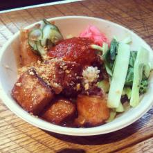 The heavenly pork belly bowl!